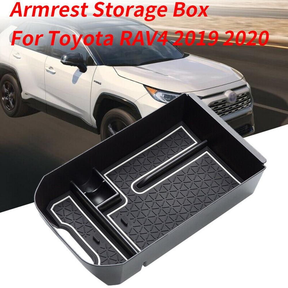 For Toyota RAV4 2019 2020 Car Storage Box Armrest Central Glove Tray Case Organizer Plastic