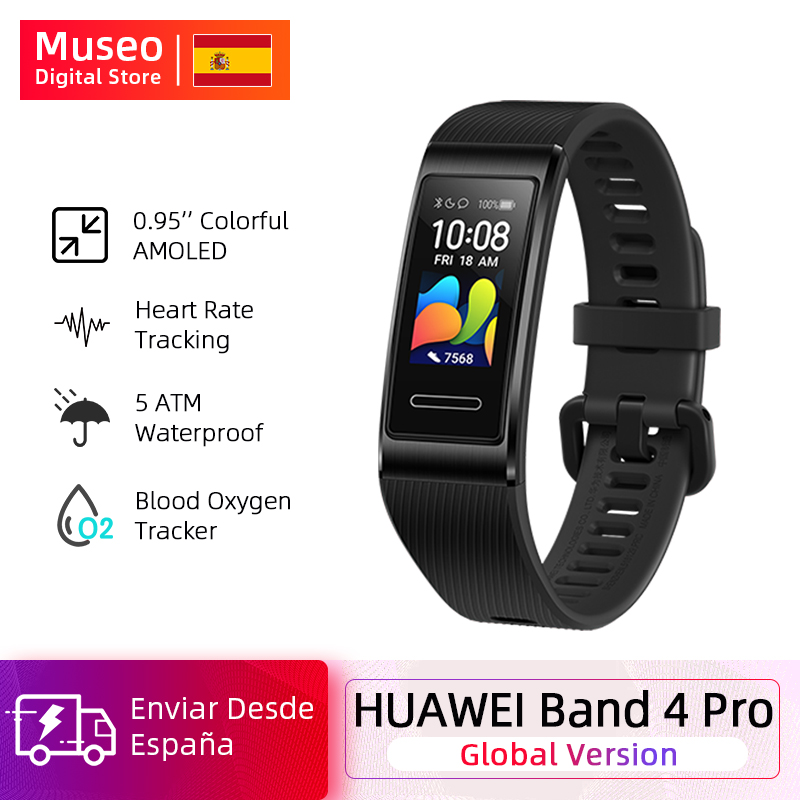 Global Version Huawei Band 4 Pro Amoled 0.95 'Metal Material Sensor Heart Rate Sleep Bracelet GPS
