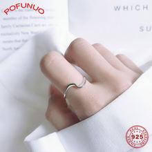Pofunuo минималистичные 925 пробы серебряные кольца с обмоткой