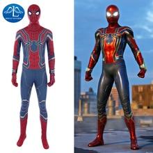 Manluyunxiao Spiderman Cosplay Marvel Avengers Infinity War Peter Parker Jumpsuit Halloween Costumes For Men Adult