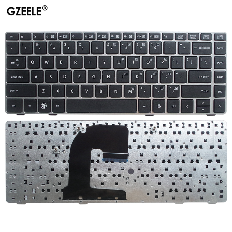 New US <font><b>Keyboard</b></font> Laptop for <font><b>HP</b></font> for <font><b>EliteBook</b></font> 6470 6460 <font><b>8460P</b></font> 8470 8460W 6460B 8470B 8470P 8470 without Point silver frame image