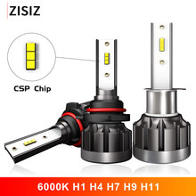 цена на 6000K H4 LED H7 H1 HB4 H11 HB3 CSP Chip Auto Lamp Car Headlight Bulbs 72W 12000LM Car Styling 9005 9006 led automotivo Canbus