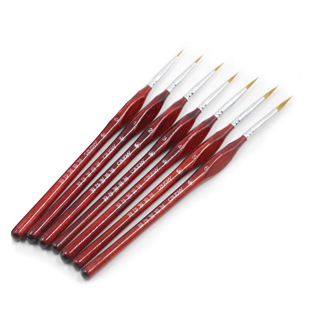 7/9pcs Paint Brush Set Nail Art Painting Liner Drawing Brushes Nail Painting Wooden Handle Pens Nail Liner Brush