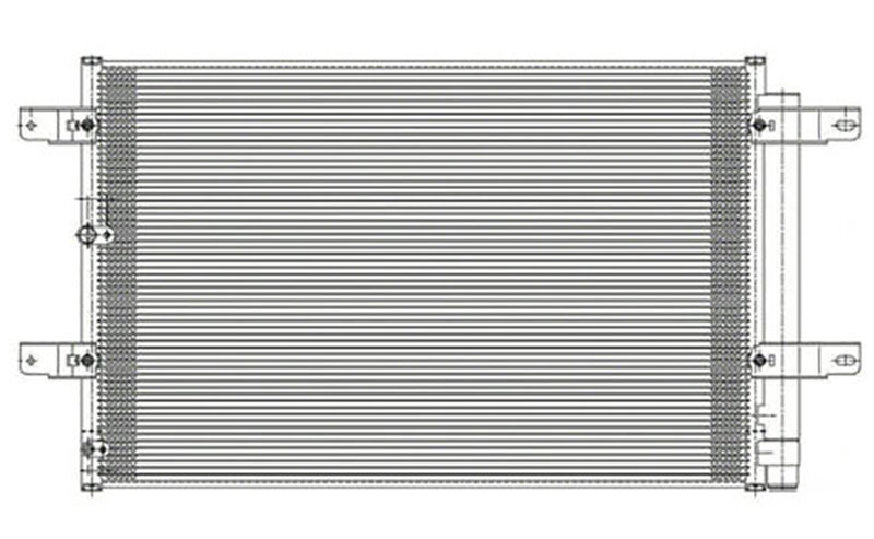 Partslink Number FO3030259 OE Replacement FORD EDGE A//C Condenser