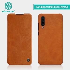 Image 1 - For Xiaomi mi A3 Case Cover for xiaomi mi cc9e NILLKIN Vintage Qin Flip Cover wallet PU leather PC For Xiaomi Mi CC9 case 6.39