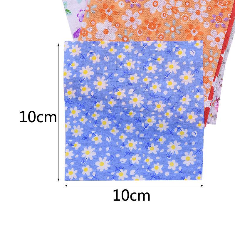 50 Stuks Diverse Bloemen Bedrukte Katoenen Doek Naaien Quilten Stof Voor Patchwork Handwerken Diy Handgemaakte Materiaal 10X10cm Vierkante