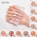 2020 Новое поступление наклеек для ногтей в японском стиле обертывания полное покрытие клейкий 14 наконечников цветок водонепроницаемый диза...