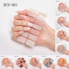 Adesivos para unhas japoneses, adesivos de cobertura completa para unhas com 14 pontas, à prova d'água, acessórios para decoração de nail art 2020
