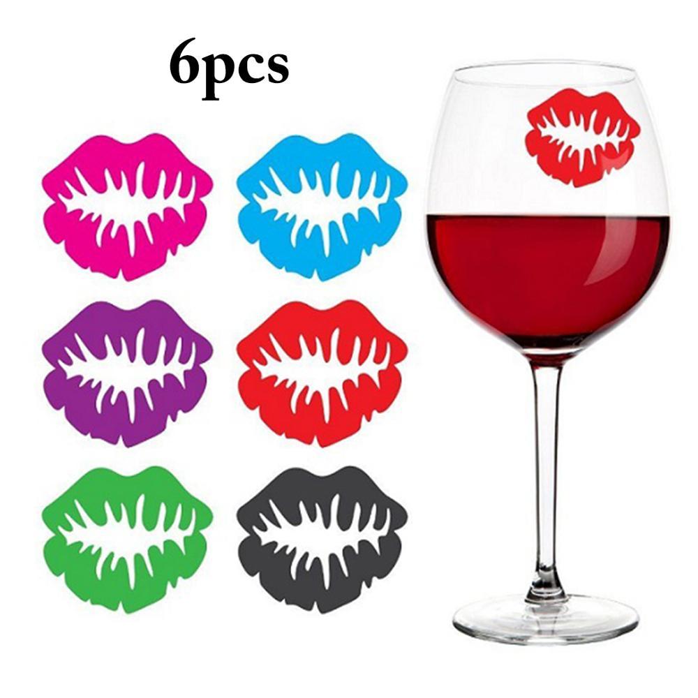 JUSTDOLIFE 18PCS Charm Shark Pineapple Bird Wine Glass Marker Decor Wine Glass Drink Glass Tag