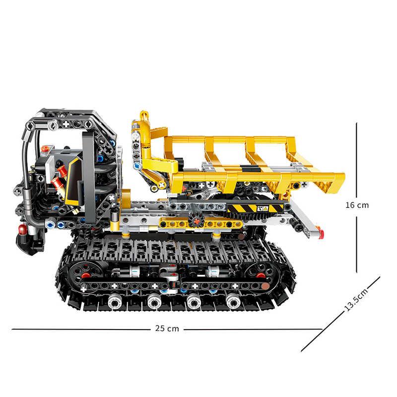 RC รถบรรทุก Bulldozer APP ควบคุม Building Blocks City Technic รีโมทคอนโทรลรถของเล่นสำหรับชาย