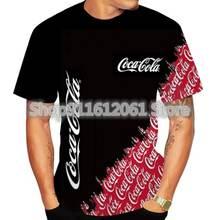 Coca Cola 3d Druck T-Shirt Männer Coole lustige kreative T-Shirts mit rundem Hals
