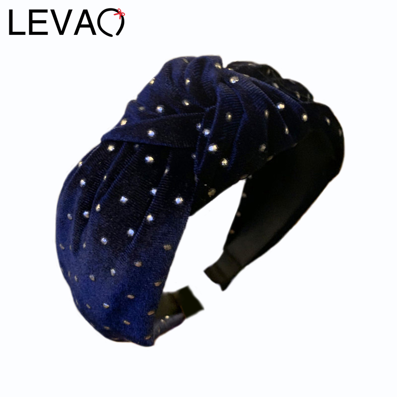 LEVAO Autumn And Winter Velvet Headband Wide Size Knotted Hairband Hair Accessories Women Elegant Bezel Turban Girls Hair Hoop