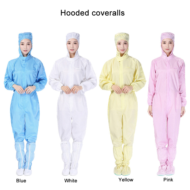 Anti Static Coveralls Protective Overalls CleanRoom Clothes Dustproof Antistatic Coat For Dustless Workshop Work Clothes