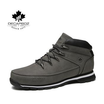 Mężczyźni podstawowe buty buty mężczyźni 2020 wiosna zima moda buty casual Men marka kostki Botas nowe skórzane klasyczne koronki-up męskie buty tanie i dobre opinie DECARSDZ ANKLE Stałe Dla dorosłych Płótno Okrągły nosek Wiosna jesień Niska (1 cm-3 cm) DK-B-04 Lace-up Pasuje większy niż zwykle proszę sprawdzić ten sklep jest dobór informacji