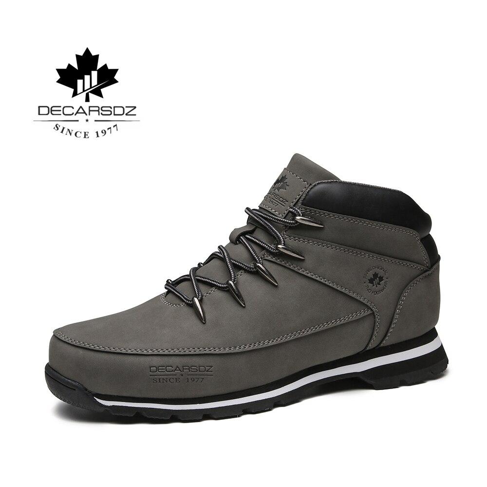 Men Basic Boots Shoes Men 2019 Autumn Winter Fashion Casual Boots Men Brand Ankle Botas New Leather Classic Lace-up Men's Boots