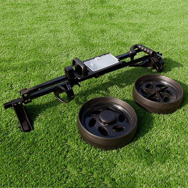 Golf Pull Cart Adjustable Golf Trolley Cart 2 Wheels Push Pull Golf Cart Aluminium Alloy Foldable Trolley With Brake 5