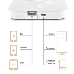 Image 5 - JUNEJOUR LED lampe de Table lampe de bureau capteur tactile réglable yeux pliables protéger avec USB noir/argent/or