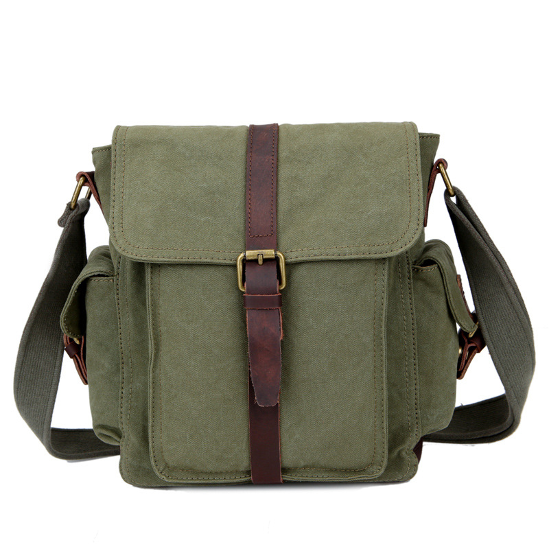 Manufacturers Direct Selling New Style Men's Bag Canvas MEN'S Single-shoulder Bag MEN'S Messenger Bag Casual Retro School Bag Ko