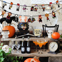 Banner Garland-Bar Wall-Hanging-Paper Party-Supplies Skull-Pumpkin Flag Bunting Happy