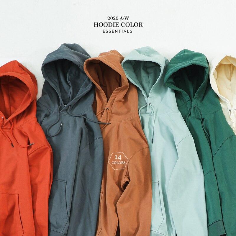 SIMWOOD 2020 automne hiver nouveau sweat à capuche hommes épais 360g tissu solide sweat-shirts de base qualité survêtement texture pulls