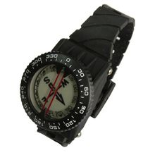 Diving Sighting Wrist Compass 50M Depth Blackout Dial for Outdoor Hiking