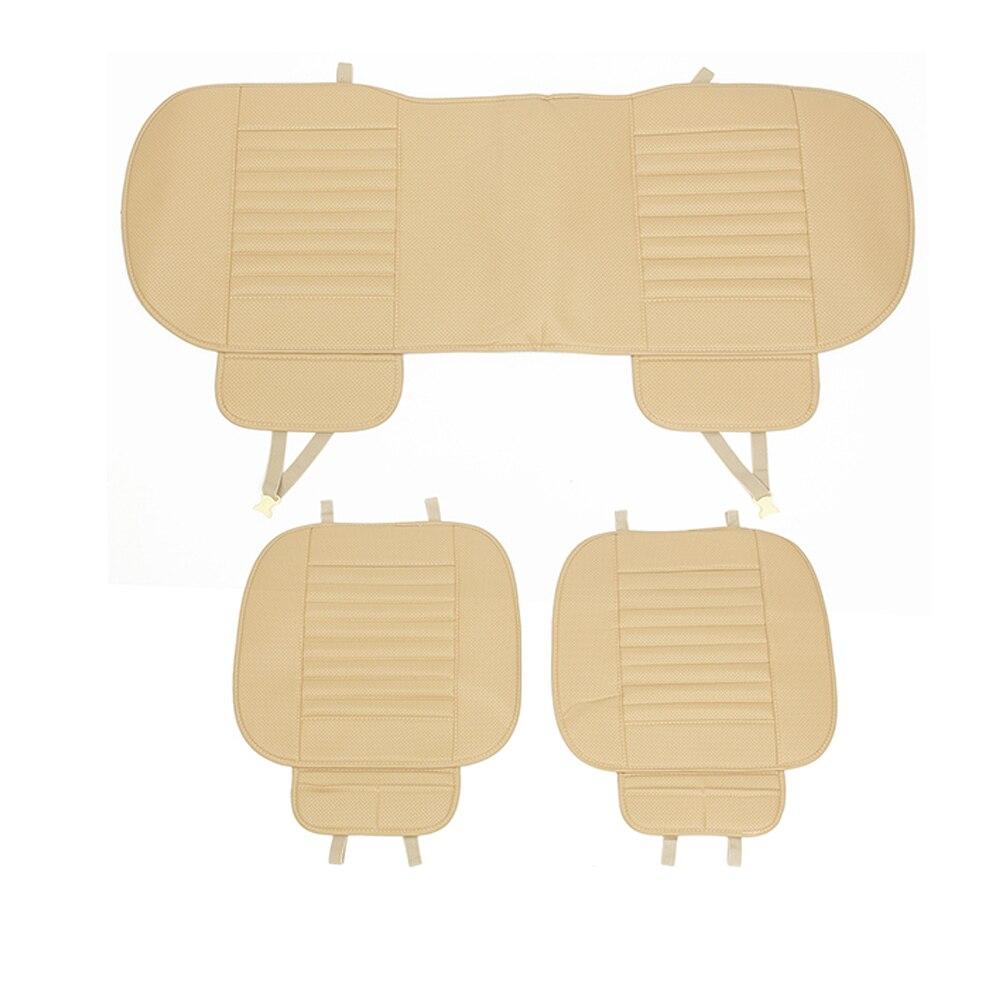 Чехол для автомобильного сиденья, четыре сезона, передняя Подушка, дышащий бамбуковый защитный коврик, коврик из искусственной кожи для авт... - 3