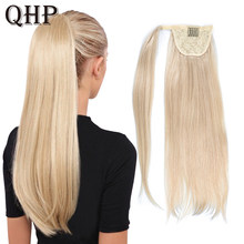 Paardenstaart Menselijk Haar Remy Straight Europese Paardenstaart Kapsels 80G 100% Natural Hair Clip In Extensions(China)