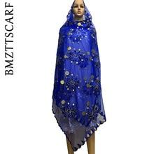 Комплект из обуви в африканском стиле шарфы мусульманские, однотонные женские туфли с вышивкой большой шарф из тюли для шали пашмины BM478