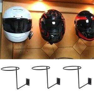 Image 5 - 3Pcs Universal Aluminum Motorcycle Accessories Helmet Holder Hanger Rack Wall Mounted Hook for Coat Hat Cap Helmet Rack Black