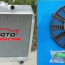 3 ряд для Chevy W/кулер алюминиевый радиатор+ вентилятор 1951-1954 1952 1953