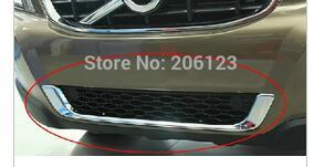 2009-2013 For Volvo XC60 ABS Chrome Front Grille Around Trim bumper Racing Grills 1 pcs