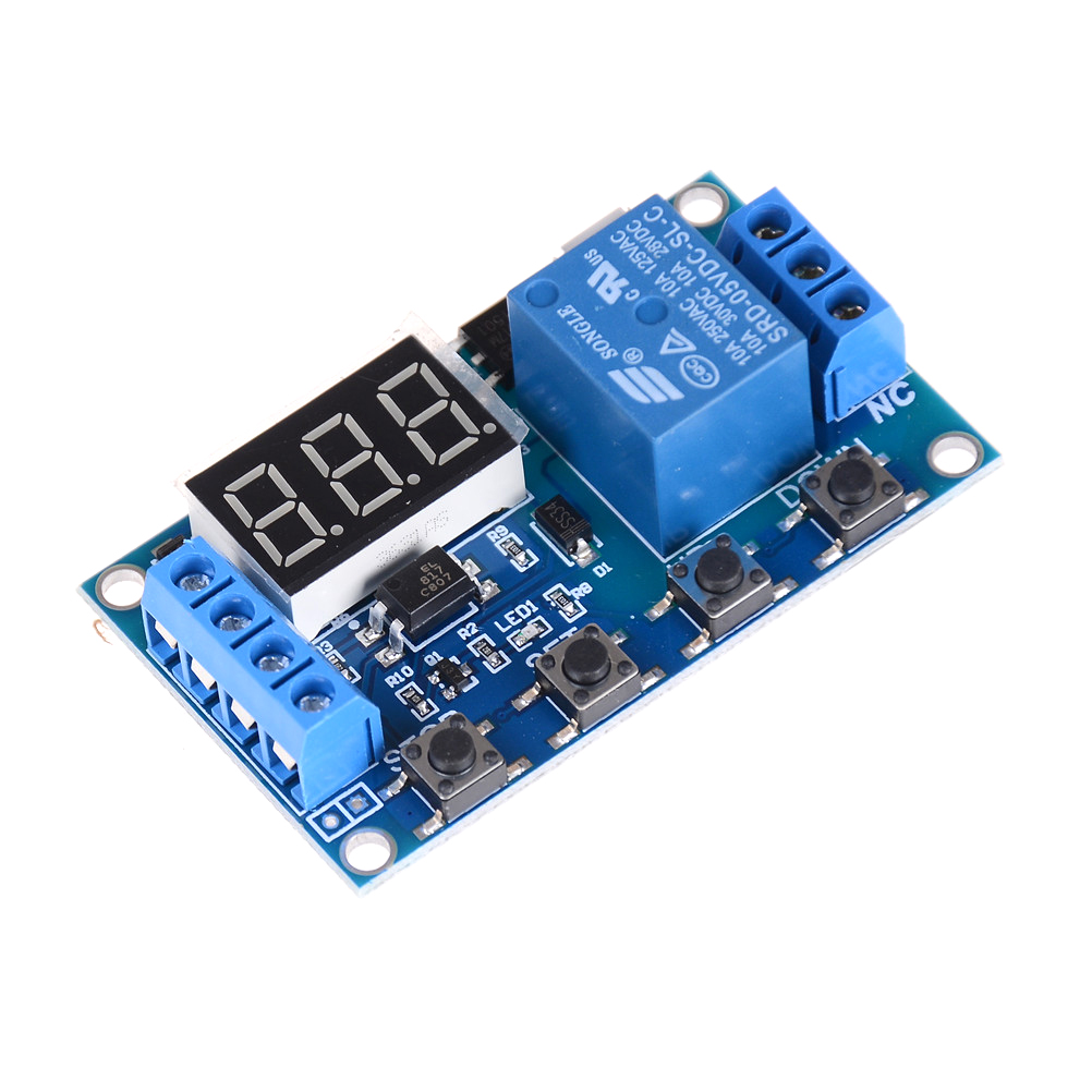 Digital LED Display Time Delay Relay Module Board DC Control Programmable Timer Switch Trigger PLC Automation Car Buzzer