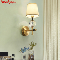 Modern LED Copper Wall Lamps For Bedroom Bedside Lamp gold Holtel Corridor Indoor Lighting applique murale luminaire For home