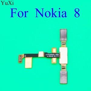 Image 2 - YuXi Finger Print Sensor for Nokia 8 TA1004 TA1052 TA 1004 TA 1052 Home Button Fingerprint Menu Return Key Sensor Flex Cable
