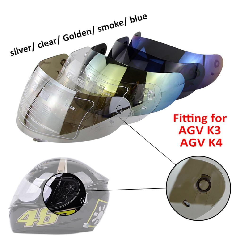 Motorcycle Helmet Full Face Shield Visor Lens Shield Motocross Helmet Motorbike Helmets Sun Visor For AGV K3 K4