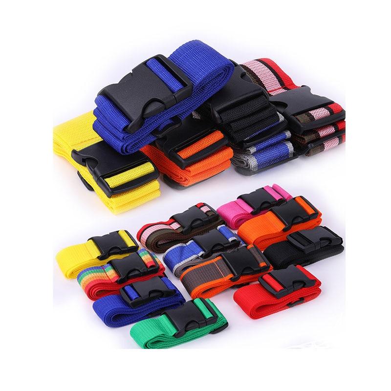 11 Color Adjustable 200CM PP Travel Lock Luggage Belt Travel Protection Belt Accessories Suitcase Travel Bag Belt Luggage Strap