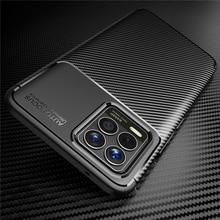 Voor Oppo Realme 8 Case Bumper Siliconen Slim Carbon Fiber Anti Klop Terug Case Voor Oppo Realme 8 Cover voor Realme 8 Real Me 8 6.4