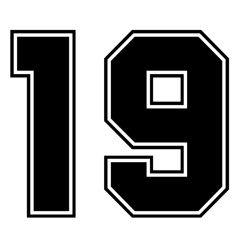 CK3231# Racing Number 19 Reflective Funny Car Sticker Vinyl Decal Waterproof Car Auto Stickers Silver/ Black For Bumper