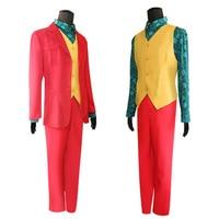 Movie Joker 2019 Joaquin Phoenix Arthur Fleck Cosplay Costume Suits Wigs Halloween Party Uniforms for adult kids
