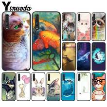Yinuoda Watercolor Painting Animal Cat Whales Phone Case for Huawei NOVA 3I 3E 4 4E 5 5I PRO Y5 PRIME Y6 PEIME 2018 Y5 2019(China)