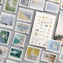 50 pièces/lot bien-aimé Van Gogh série Journal autocollants décoratifs Scrapbooking bâton étiquette Journal Album voyage papeterie autocollants