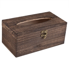 Деревянная пластиковая коробка для салфеток для дома, кухни, деревенская коричневая деревянная коробка для салфеток для ванной комнаты, держатель для салфеток, диспенсер для салфеток