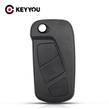 KEYYOU Replacement Flip Car Key Case Cover Shell For Ford KA 3 Buttons Remote Folding Key Housing Case Holder