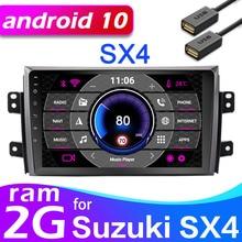 GPS con Android para coche, sistema operativo con radio de 2 DIN, grabadora estéreo, WIFI y reproductor de DVD, para Suzuki SX4 2006 2007 2008 2009 2010 2011 2012 2017, 2 dines