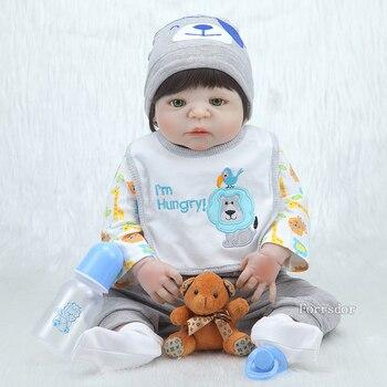 22 pulgadas 55CM cuerpo completo silicona muñeca rebirth juguete de ducha para bebés realista recién nacido muñeca princesa bebé Bonecas Bebe rebirth Christma
