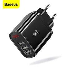 Baseus متعددة USB شاحن آيفون سامسونج شاومي mi شحن سريع توربو متعددة الجدار شاحن الاتحاد الأوروبي الولايات المتحدة التوصيل شاحن الهاتف المحمول