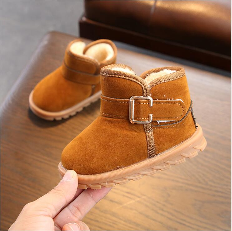 Kids Ankle Boots Warm Baby Toddler Boots Fashion Child Snow Boots Shoes For Boys Girls Winter Shoes