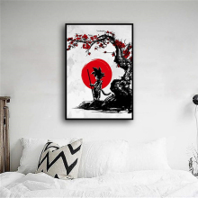 Nordic Style Modern Home Wall Artwork Dragon Ball Goku Canvas Painting Pictures Prints Modular For Living Room Decoration Poster недорого