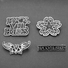 Velo nero spose Pin s BVB Logo Emo Steampunk banda gotica Merch Pin s per colletto borsa abbigliamento spilla distintivo regalo corpetto