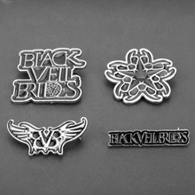 Music Band Black Veil Brides Brooch BVB Logo Men Women Jewelry Enamel Pin Brooches Backpack Hat Cloth Badge Collar Lapel pins sitaicery white cartoon smile teeth enamel brooches pin for nurse dentist hospital lapel pin hat bag pins shirt women brooch